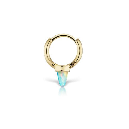 8mm Yellow Gold Opal Spike Clicker