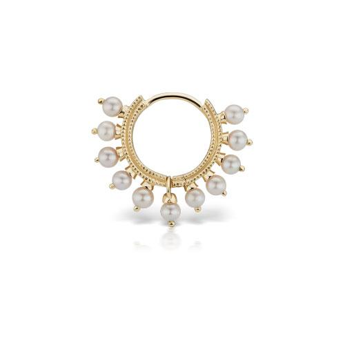 8mm Pearl Coronet Yellow Gold Ring