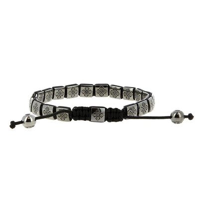 Bracelet White Gold Black Diamonds