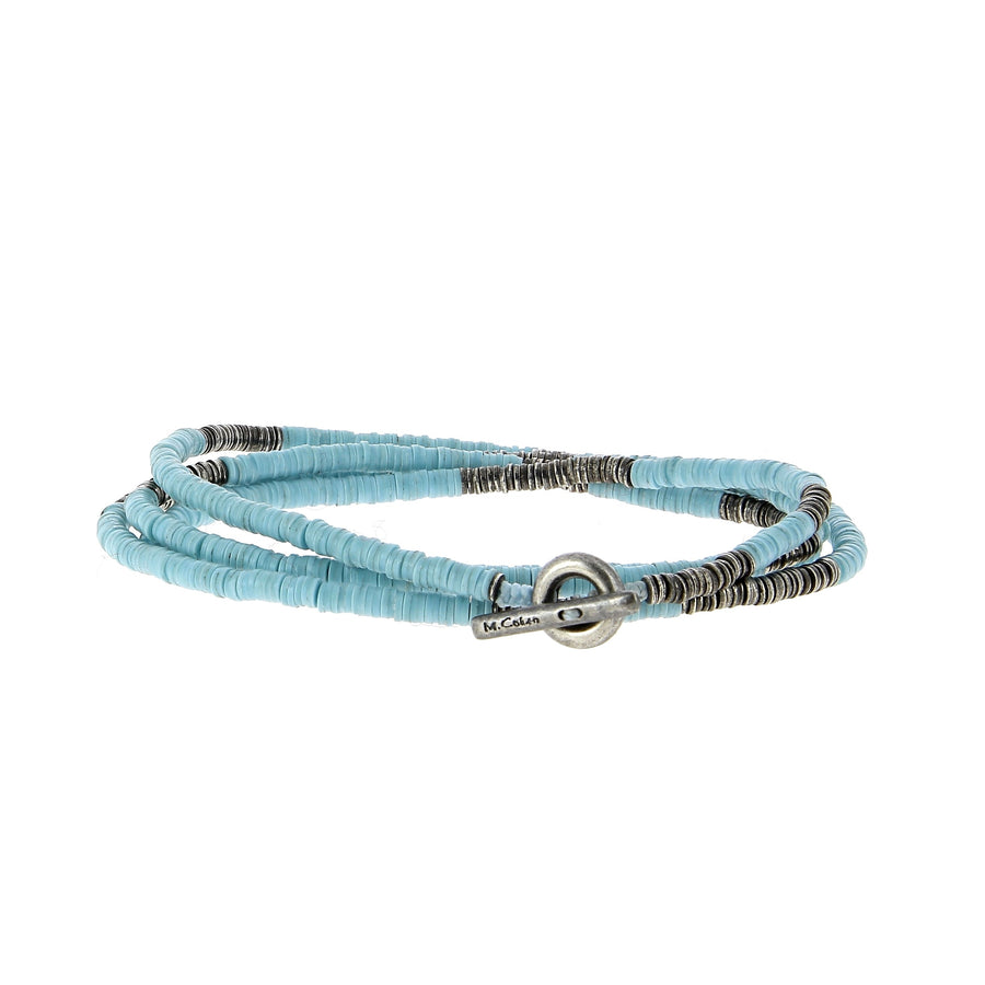 Light Blue Bracelet 4 Laps