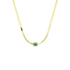 Pave Emerald Herringbone Necklace