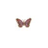 Pink Tourmaline and Diamond Butterfly Ring
