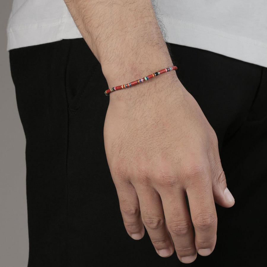 Thin African Red Bracelet