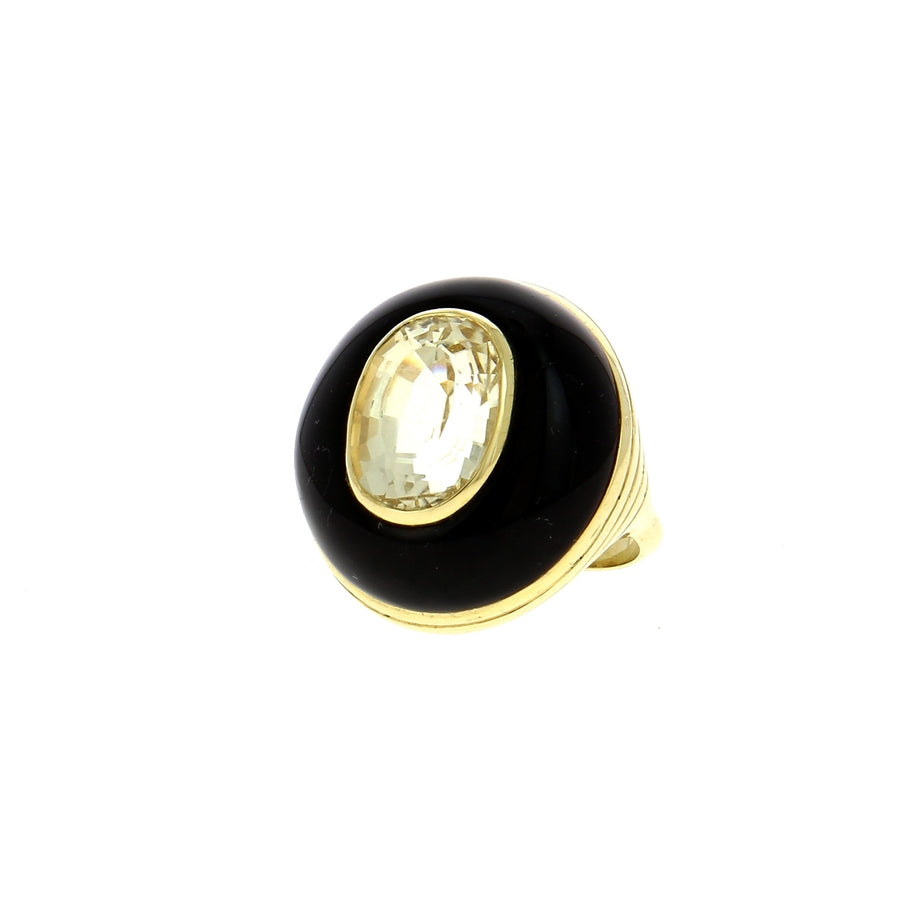 Onyx Lolipop Ring
