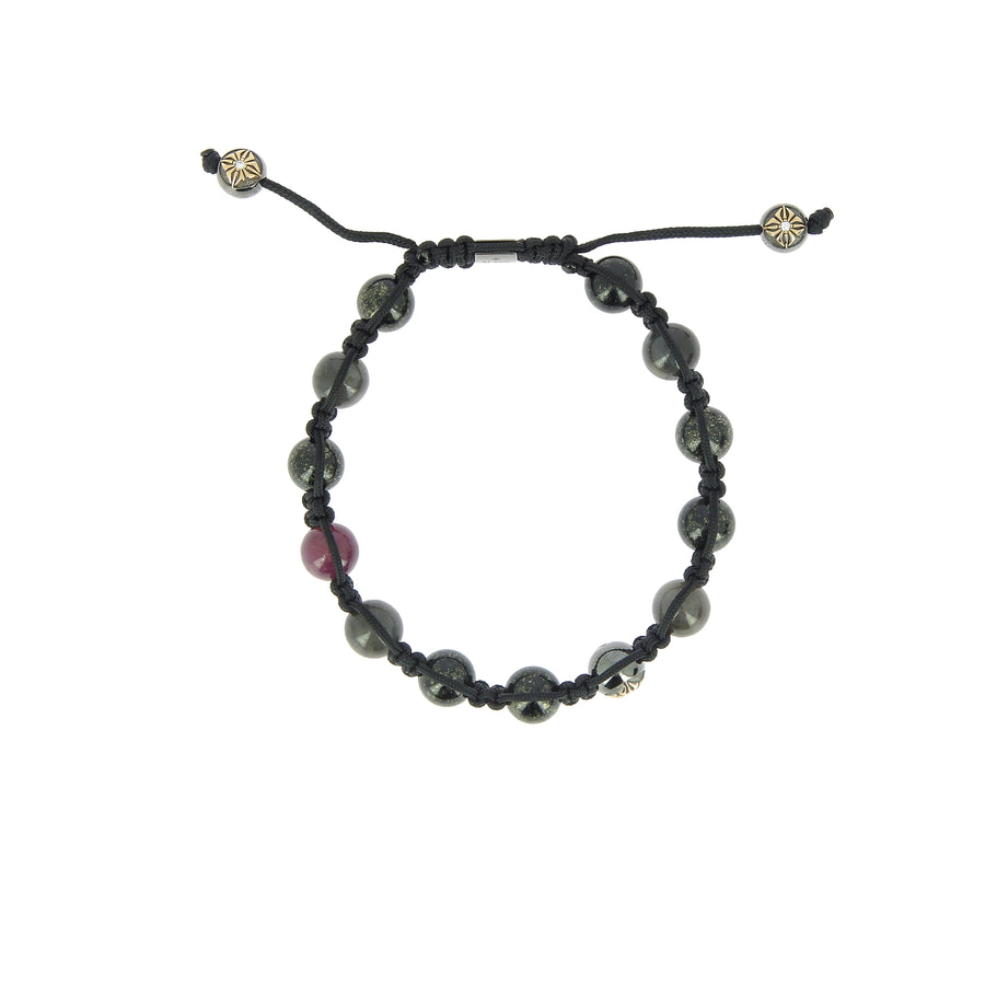 Ruby and Grey Sapphire Bracelet