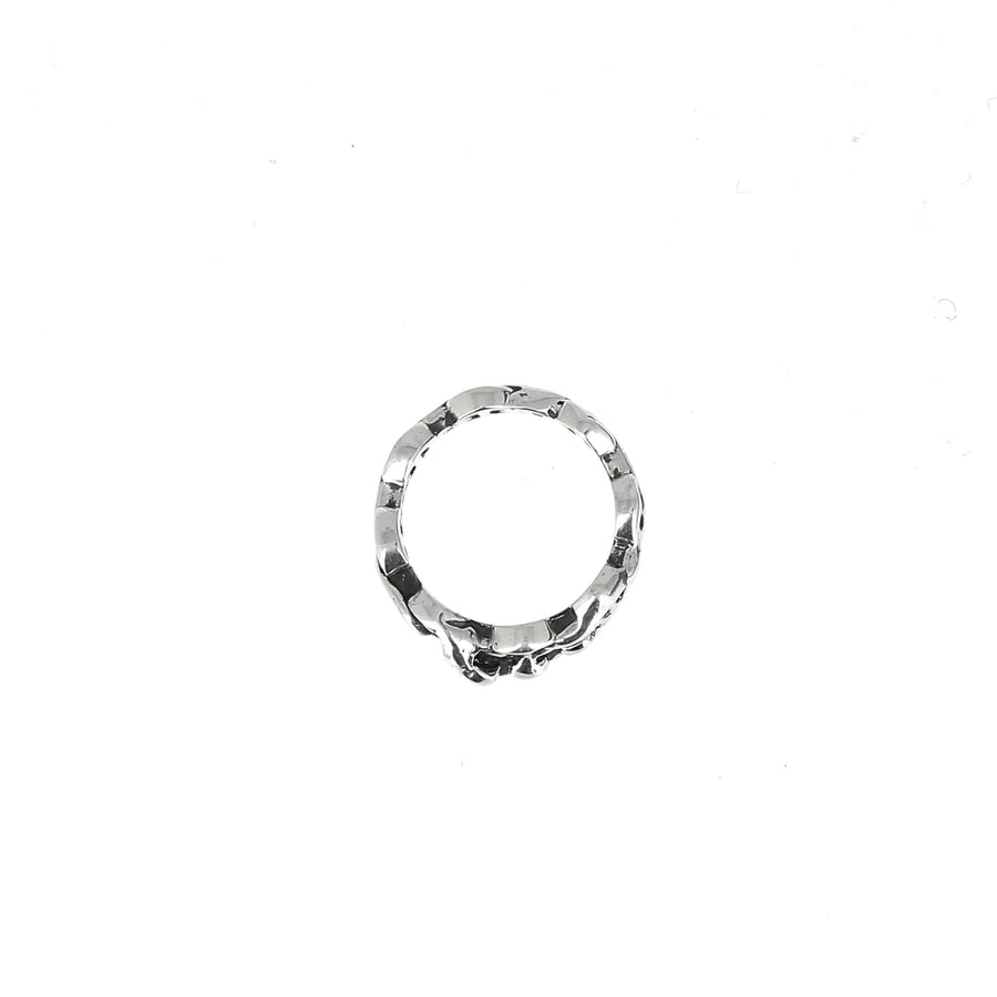 Sacred Melted Dame Tri Link Ring