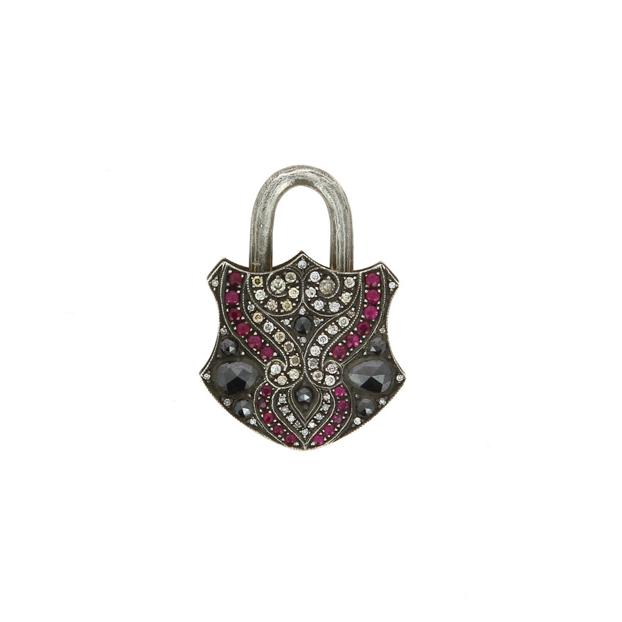 Gold and Diamonds Padlock Pendant