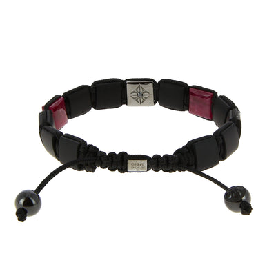 Red & Black Lock Bracelet