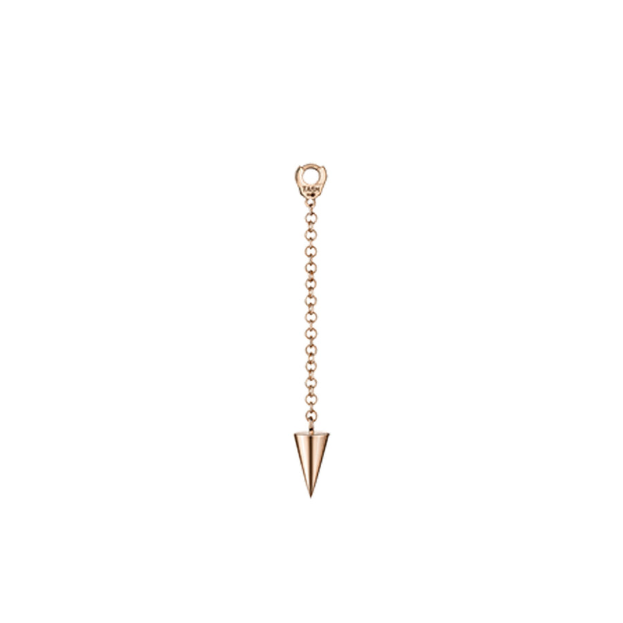 Short Pendulum Charm with Short Spike Rose Gold