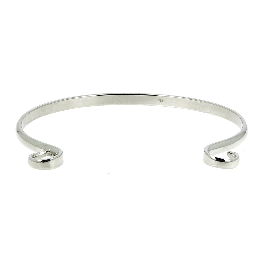 Silver hard hook regular bracelet