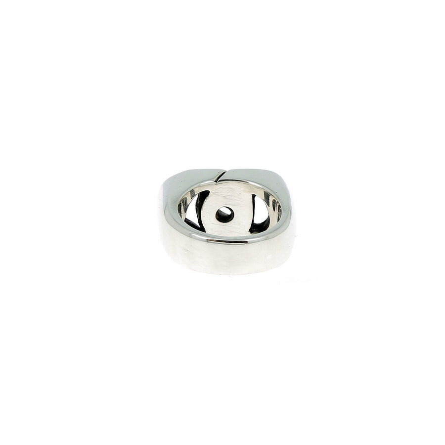 Sterling silver curb ring