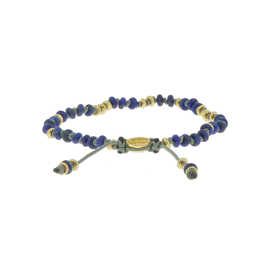 Templar jointed mini gemstone bracelet with yellow gold accents