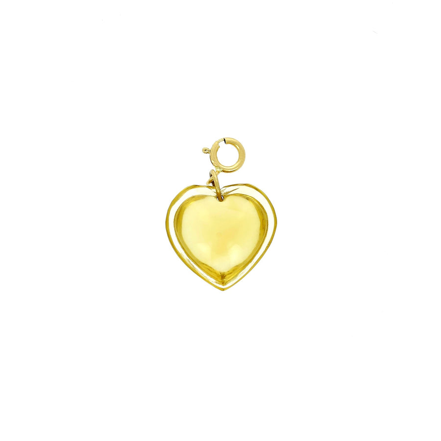 Ten thousand things citrine heart charm