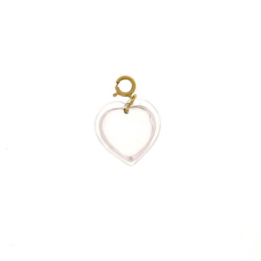 Ten thousand things crystal heart charm