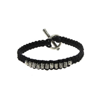 Macramed Tube Bracelet