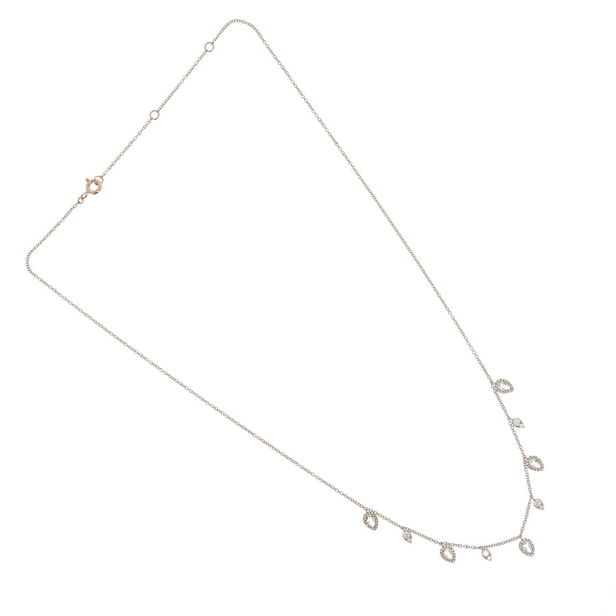 Ultimate Diamond and White Topaz Teardrop Necklace