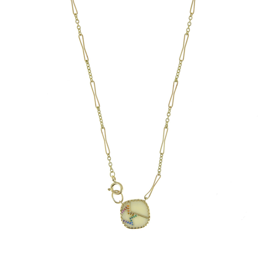 Varda n°2 Necklace White Rainbow