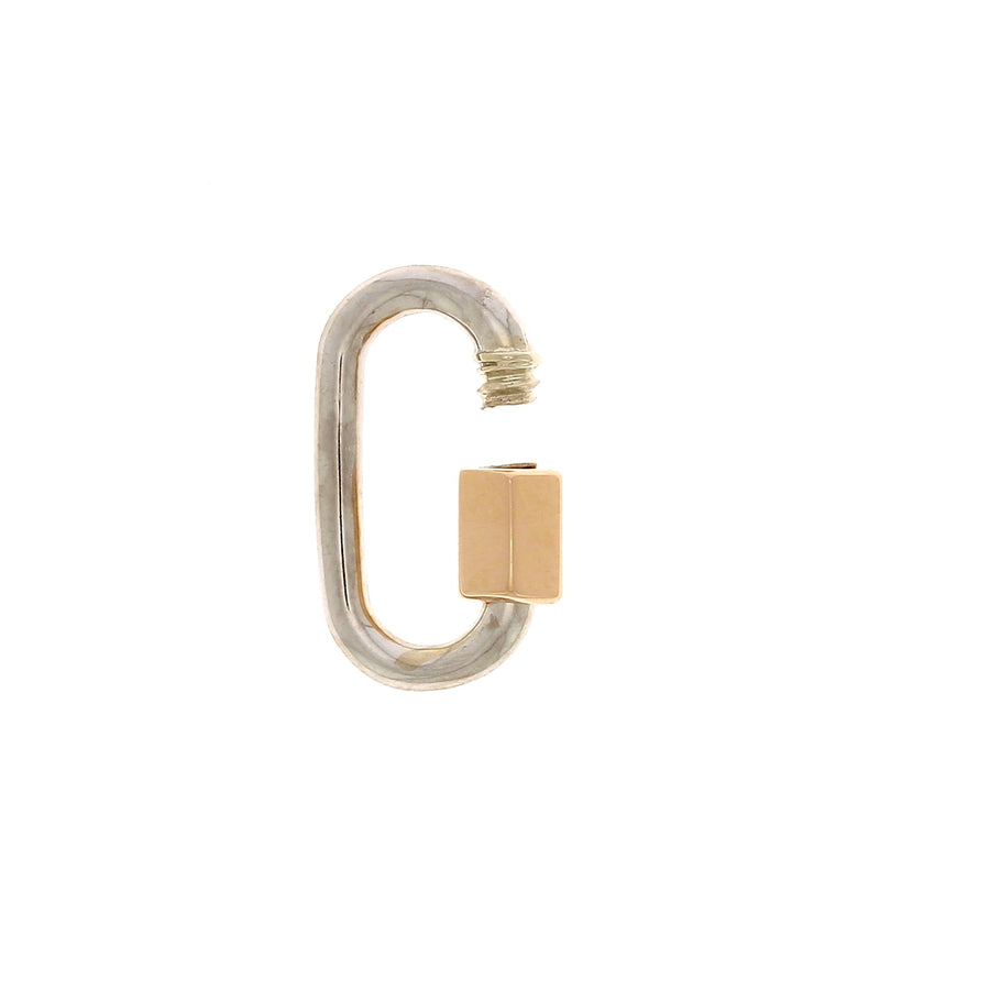 White Gold Baby Lock with Rose Gold Closure