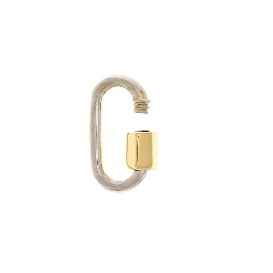 White Gold Baby Lock with Yellow Gold Closure