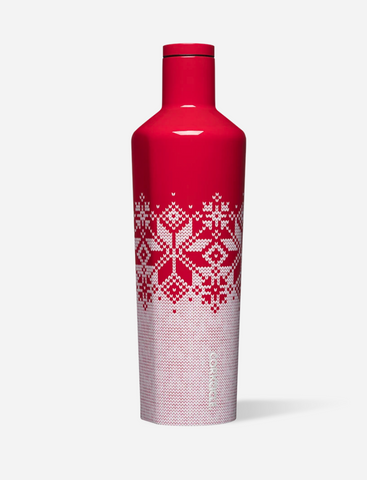 Corkcicle Red Fairisle Canteen