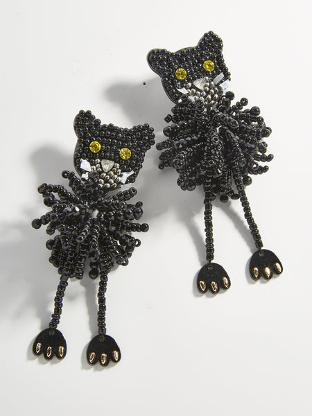 BAUBLEBAR Black Cat Drop Earring