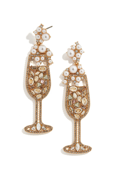 BaubleBar Champagne Earrings