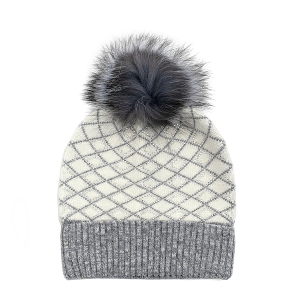 Sparkle Lattice Pom Hat