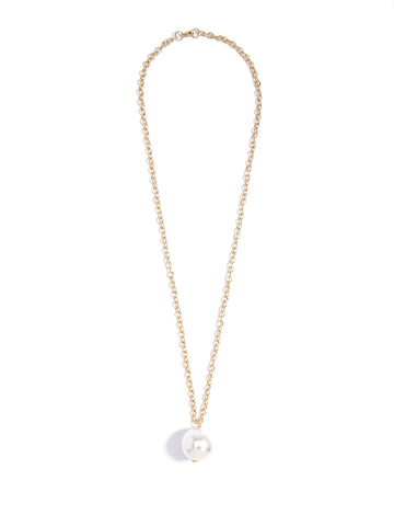 Long Pearl Pendant Necklace