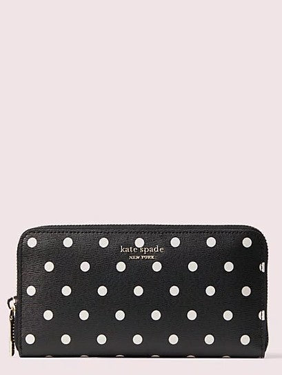 Kate Spade Black Dot Large Wallet