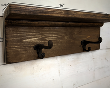 "Load image into Gallery viewer, 16"" Coat Rack with Shelf - Bravenity"