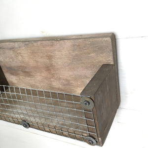 Small Rustic Shelf with Weathered Wood Finish - Bravenity