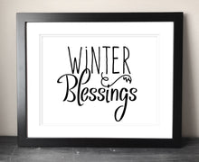 Load image into Gallery viewer, Winter Blessings Printable Art - Bravenity