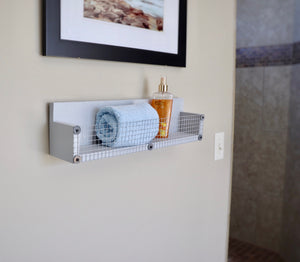 Farmhouse Gray Wood Shelf with Ledge - Bravenity