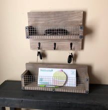 Load image into Gallery viewer, Rustic Basket Shelf with Weathered Finish - Bravenity