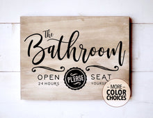 Load image into Gallery viewer, Vintage Style Bathroom Wooden Sign, 12 Inches Wide - Bravenity
