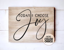 Load image into Gallery viewer, Choose Joy Wood Sign, 12 Inches Wide - Bravenity