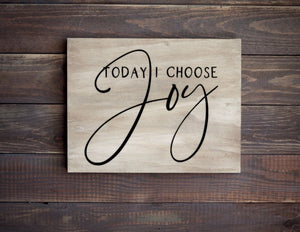 Choose Joy Wood Sign, 12 Inches Wide - Bravenity