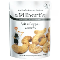 Mr Filberts Salt & Black Pepper Cashews 40g - Applegarth Online Farmshop