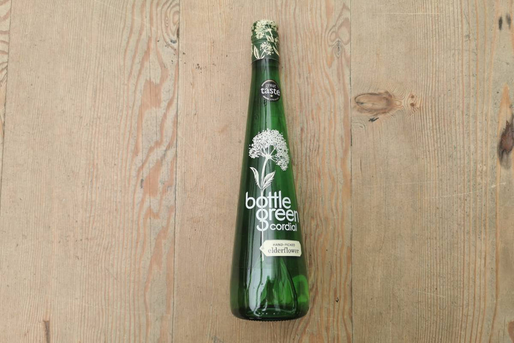 Green Bottle Elderflower Cordial - Applegarth Online Farmshop