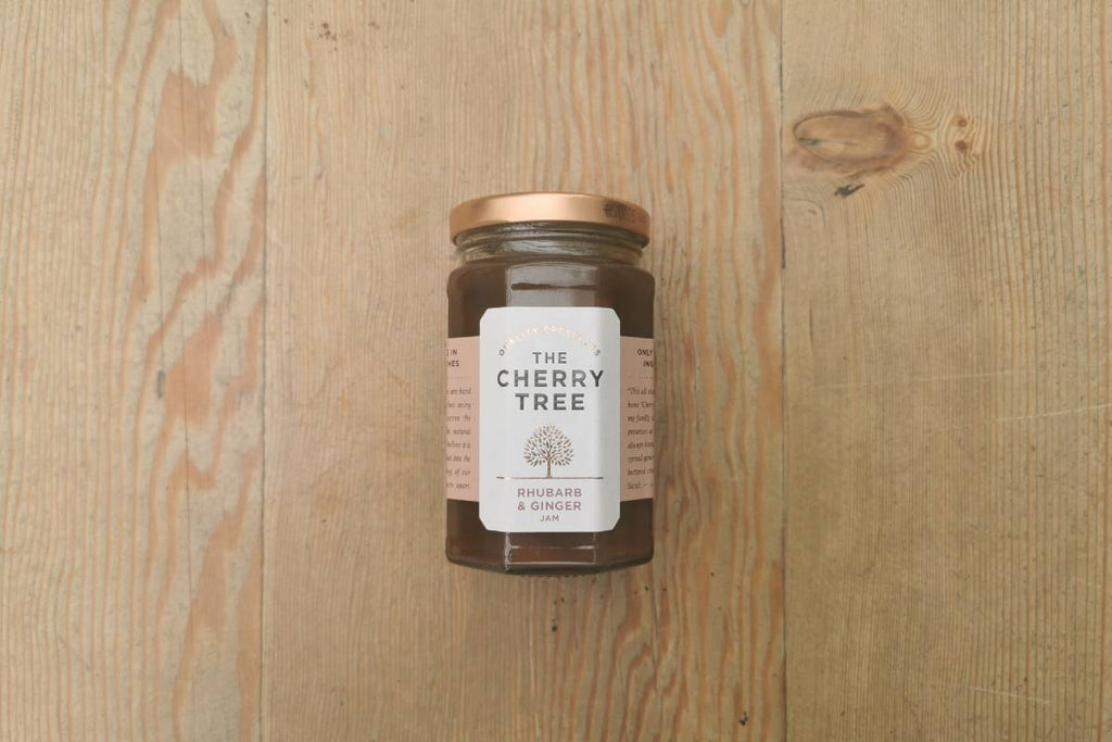 The Cherry Tree Rhubarb & Ginger Jam - Applegarth Online Farmshop