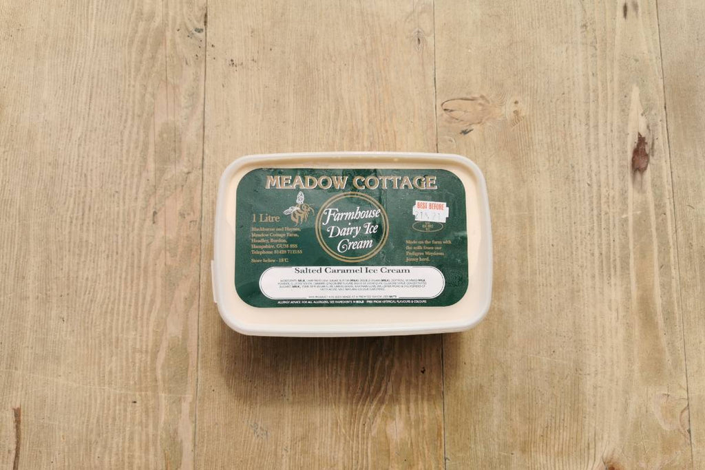 Meadow Cottage Salted Caramel Ice Cream 1lt - Applegarth Online Farmshop