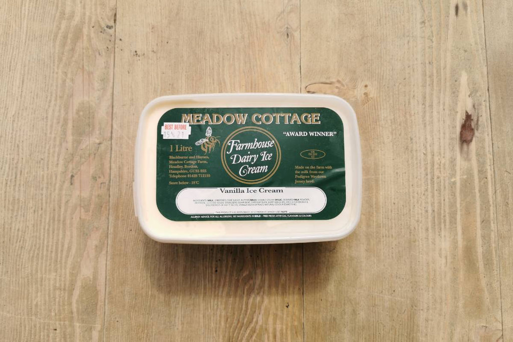 Meadow Cottage Vanilla Ice Cream 1lt - Applegarth Online Farmshop