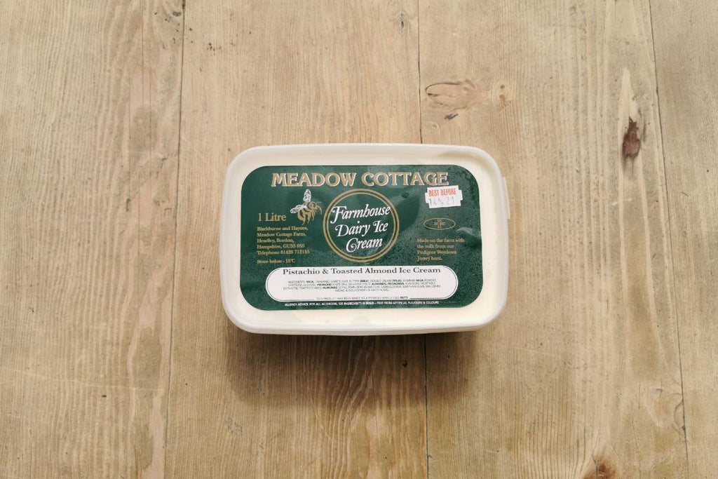 Meadow Cottage Pistachio & Almond Ice Cream 1lt - Applegarth Online Farmshop