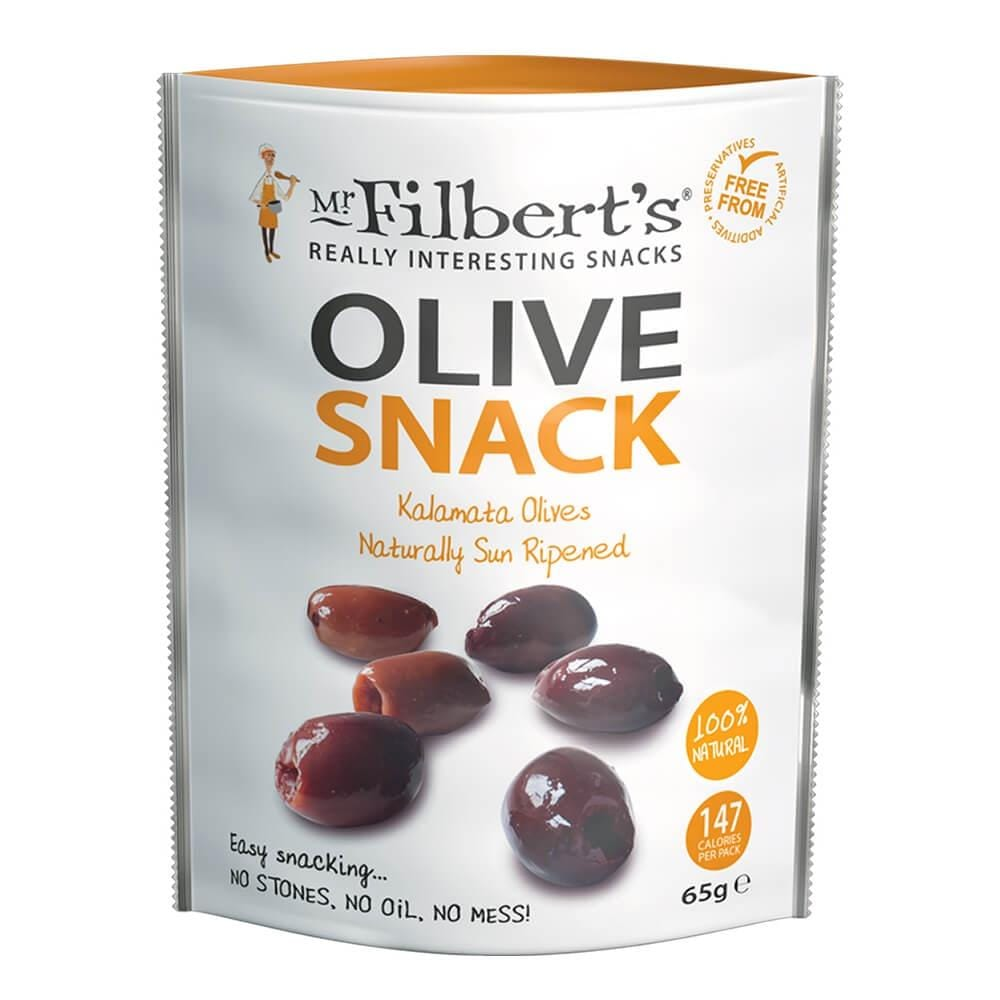 Mr Filberts Kalamata Olives with Thyme & Parsley 65g - Applegarth Online Farmshop