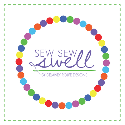 SewSewSwell logo or Sew Sew Swell logo by Delaney Rolfe Designs