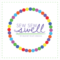 Sew Sew Swell by Delaney Rolfe Designs.  Custom embroidery and products to be embroidered.