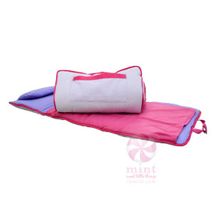Lilac & Hot Pink Nap Roll, by Mint Sweet Little Things
