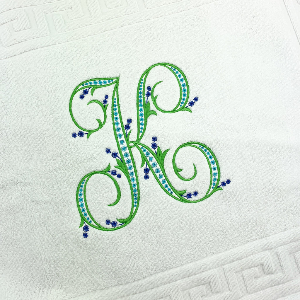 Greek Key Bath Mat
