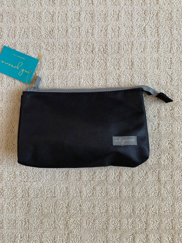 Black Toiletries Pouch, by MB Greene