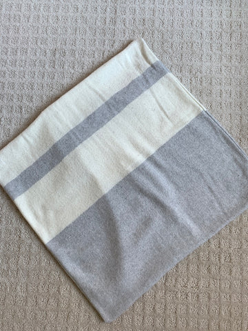 Lands Downunder Grey & Cream Sydney Stripe Pillow Cover
